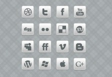 clean-blackand-white-social-media-icon Set