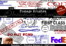free_postage_photoshop_brushes