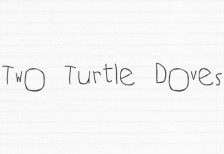 free_script_font_two_turtle_doves
