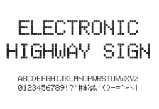 free_font_electronic_highway_sign