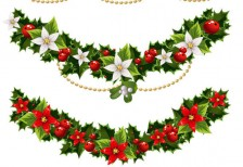 free-illustration-green-christmas-holly-decoration