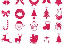 free-vector-cute-christmas-silhouette