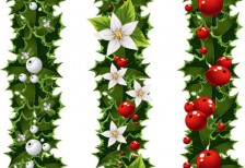 free-vector-green-christmas-garlands