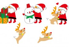 free-illustration-cute-santa-reindeer-6513