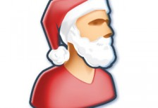 free-illustration-icon-cool-santa