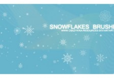 free-simple-snowflakes-brushes-crazykira-resources