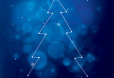 free-vector-illustration-blue-christmas-tree