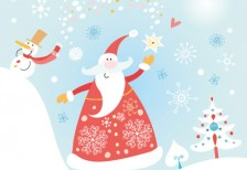 free-vector-illustration-cute-santa-christmas