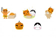 free-cute-illustration-setubun-set