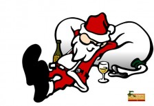 free-illustration-santa-claus-relaxing