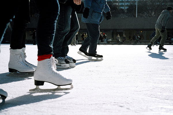 Free photo skating rink
