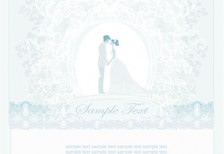 free-vector-illustration-blue-wedding-silhouette