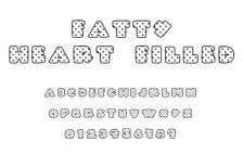 free-font-fatty-heart-filled