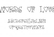free-font-words-of-love