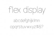 free-narrow-font-flex-display
