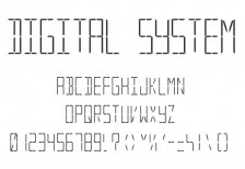 free-font-disital-system