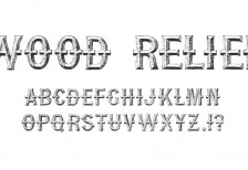 free-font-wood-relief