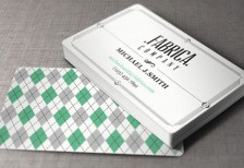 free-vector-retro-fabric-business-card