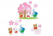 free-illustration-animals-ohanami