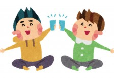 free-illustration-hanami-kanpai-boys