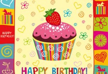 free-vector-birthday-card-cup-cake