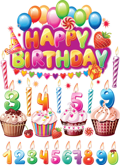 Happy Birthday Cake Balloons and Flowers : 未年 テンプレート : すべての講義
