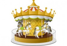 free-illustration-icon-merry-go-round