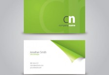 free-template-curled-corner-business-card