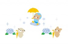 free-illustration-tuyu-animal-umbrella