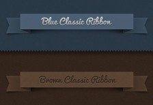 free-psd-classic-ribbon-vintage-leather