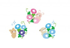 free-illustration-summer-asagao-animals