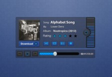 free-psd-blueprint-music-player