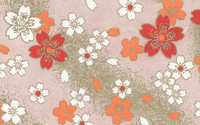 すべての折り紙 お盆 飾り 折り紙 : フリー素材 | 桜吹雪をモチーフ ...