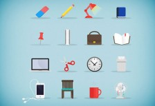 free-icons-stationery-set
