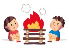 free-illustration-camp-campfire-boy-girls