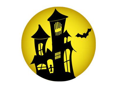 月の中に映ったお化け屋敷を ... : クリスマス 飾り ダウンロード : すべての講義