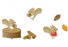 free-illustration-set-automne-squirrel