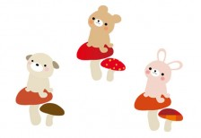 free-illustration-set-cute-animals-kinoko
