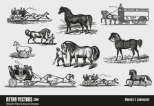 free-vector-horsescarriages-retrovectors