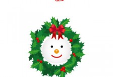 free-illustration-icon-snowman-wreath-softicons