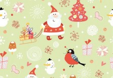 free-pattern-santa-claus-pattern-seamless-background-vector