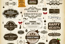 free-vector-different-vintage-christmas-03