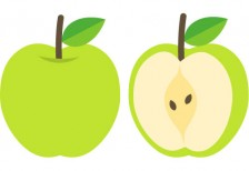 free-illustration-green-apple-0013-pictcan