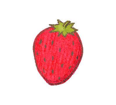 無料素材 クレヨン風のタッチのイチゴのイラスト 柔らかい雰囲気が可愛いデザイン
