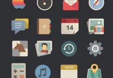free-icons-flat-retro-modern-behance