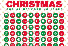 free-icons-christmas-2014-social-networking