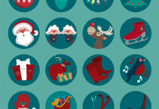 free-icons-round-christmas-freepik