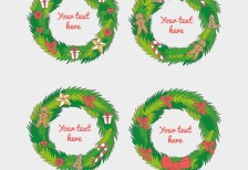 free-illustration-christmas-garland-templates-freepik