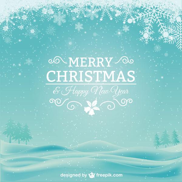 無料素材 | 雪の結晶や雪景色を ... : クリスマスカード テンプレート 無料 : カード