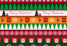 free-vector-christmas-card-vintage-pattern-freepik